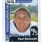PAUL WEINACHT 1998 Big 33 Pennsylvania PA High School card STANFORD