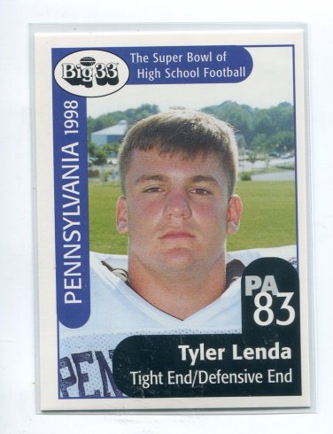 TYLER LENDA 1998 Big 33 Pennsylvania PA High School card PENN STATE