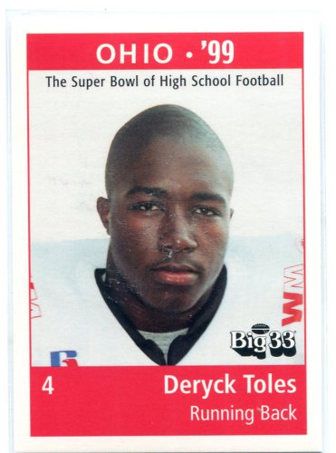 DERYCK TOLES 1999 Big 33 Ohio OH High School card PENN STATE