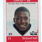 RICHARD HALL 1998 Big 33 Ohio OH High School card OHIO STATE Buckeyes RB