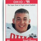 FRED PAGAC 1998 Big 33 Ohio OH High School card OHIO STATE Buckeyes LB