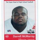 DARRELL McMURRAY 1998 Big 33 Ohio OH High School card PITT Panthers