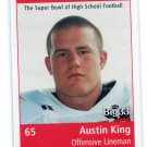 AUSTIN KING 1999 Big 33 Ohio OH High School card card NORTHWESTERN Wildcats