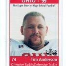 TIM ANDERSON 1998 Big 33 Ohio OH High School card OHIO STATE Buckeyes BILLS DT