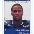 JAFAR WILLIAMS 1998 Big 33 Pennsylvania PA High School card MARYLAND Terps