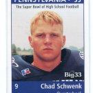 CHAD SCHWENK 1998 Big 33 Pennsylvania PA High School card RUTGERS QB