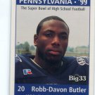 ROBB-DAVON BUTLER 1998 Big 33 Pennsylvania PA High School card PITT Panthers