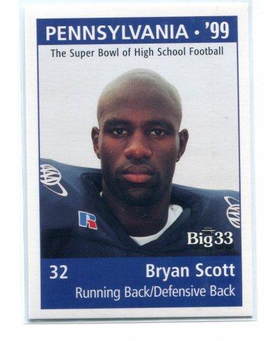 BRYAN SCOTT 1998 Big 33 Pennsylvania PA High School card PENN STATE Bills FALCONS Saints