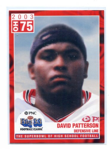 DAVID PATTERSON 2003 Big 33 Ohio OH High School card OHIO STATE Buckeyes