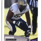 DORIAN JOHNSON 2017 Sage Hit Premier #9 ROOKIE Pitt Panthers OG