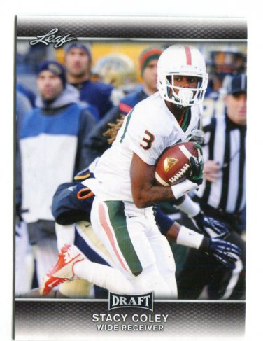 STACY COLEY 2017 Leaf Draft #61 ROOKIE Miami Canes HURRICANES WR
