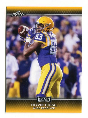 TRAVIN DURAL 2017 Leaf Draft GOLD SP #67 ROOKIE LSU Tigers WR