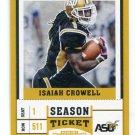 ISAIAH CROWELL 2017 Panini Contenders Draft Picks #43 Browns
