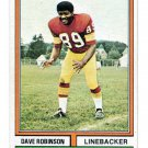 DAVE ROBINSON 1974 Topps #313 Penn State REDSKINS Packers HOF