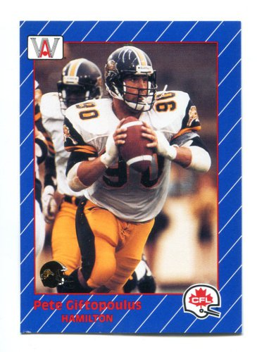 Rare PETE GIFTOPOULUS 1991 All World AW CFL #52 Penn State Nittany Lions LB