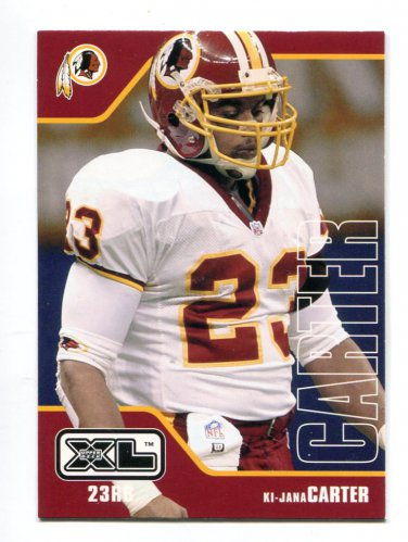 KI-JANA CARTER 2002 Upper Deck UD XL #487 Penn State RARE REDSKINS uniform