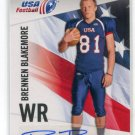 BRENNEN BLAKEMORE 2012 Upper Deck UD USA Football AUTO Texas Tech Red Raiders WR