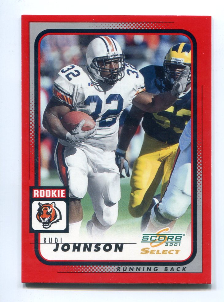 RUDI JOHNSON 2001 Score Select #288 ROOKIE Auburn Tigers BENGALS #d/275