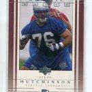 STEVE HUTCHINSON 2001 Upper Deck UD Rookie Watch #255 Michigan Wolverines SEAHAWKS