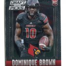 DOMINIQUE BROWN 2015 Panini Prizm DPP #180 ROOKIE Louisville Cardinals