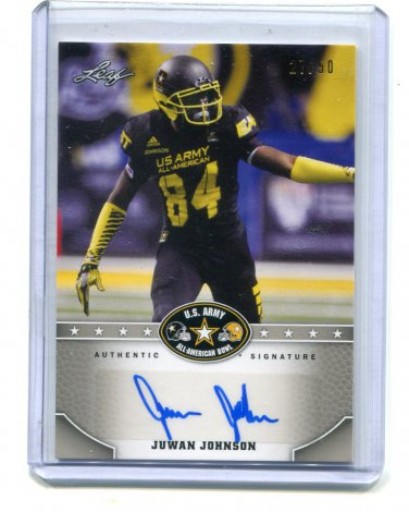 JUWAN JOHNSON 2015 Leaf Army All-American AUTO Penn State #d/50