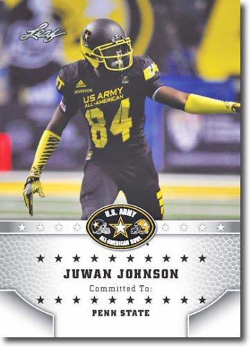 JUWAN JOHNSON 2015 Leaf Army All-American ROOKIE Penn State WR