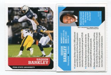 SAQUON BARKLEY rare oddball 2017 Sports Illustrated SI for Kids ROOKIE Penn State