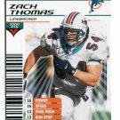 ZACH THOMAS 2002 NFL Showdown GOLD FOIL SP #167 Texas Tech DOLPHINS