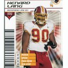 KENARD LANG 2002 NFL Showdown GOLD FOIL SP #349 Miami CANES Hurricanes REDSKINS