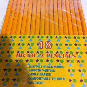 Lots Of School Pencil 18 Pcs Lead Pencil Wooden Pencil  HB 2 School Office