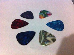 Celluloid Guitar Picks 0.71 Mm 6 Pcs Assorted Colors