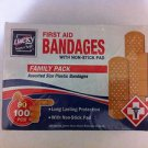 Band Aid Assorted Packs 100 pack First Aid with non stick pad breathable