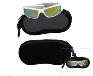 sunglasses black soft case with clear window frame Sunglasses Case