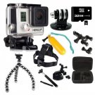 GoPro Hero 3+ Silver Edition Silver Brand New Water Sports Package