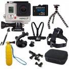 Gopro Hero 3+ Silver Edition Kit Sports Package Bundle Cycling Swimming Driving