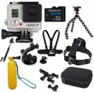 Gopro Hero 3+ Black Edition Kit Sports Package Bundle Cycling Swimming Driving