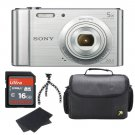 Sony DSC-W800 Silver Camera Kit With 16GB High Speed Memory Card Bundle New