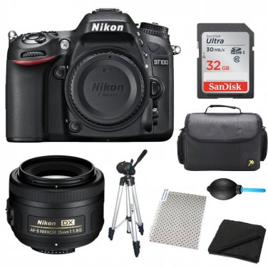Nikon D7100 (Refurbished Body) With 35mm f1.8G Lens Bundle + Accesories