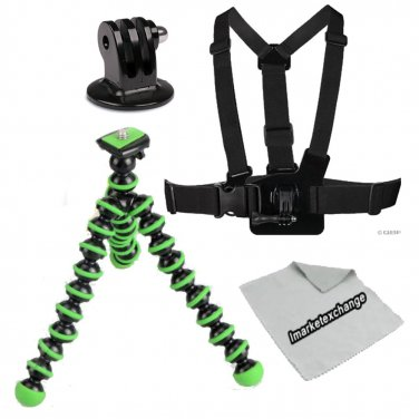 Chest Mount Harness Kit for GoPro Hero 4, Hero 3, Hero 3+