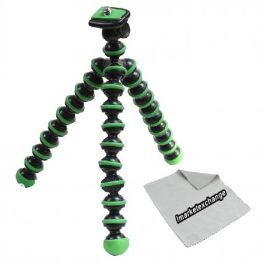 Green Flexible tripod for Nikon Coolpix S33,Coolpix S9900,Coolpix L32, Coolpix S3700