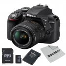Nikon D3300 Digital SLR Camera With 18-55mm Lens 64GB Kit
