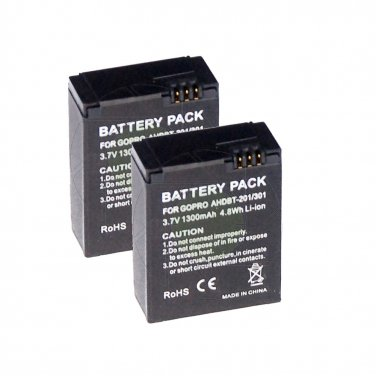 Dual Replacement Battery for GoPro Hero 3+ Hero 3 Sports Camcorder