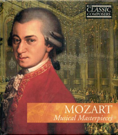 MOZART MUSICAL MASTERPIECES--NEW CD & BOOK