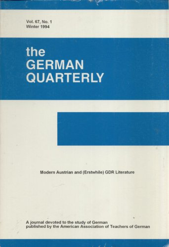 THE GERMAN QUARTERLY--VOL. 67, NO. 1--WINTER, 1994