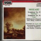 MOZART SYMPHONIES 35 & 36 AND OVERTURE TO LUCIO SILLA CD
