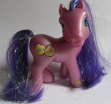 Kimono purple My Little Pony G3 yellow paper lamp symbol second release tinsel hair