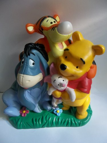 Winnie the Pooh coin bank with Tigger Eeyore Piglet plastic