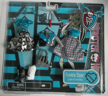 Monster High doll Frankie Stein fashion pack free ship clothing dress skirt jacket shoes clothes
