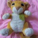 The Lion King Simba plush talking cub 1993 still works stuffed animal free shipping