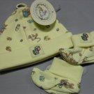 Brambly Hedge Yellow Newborn Baby Cap & Booties